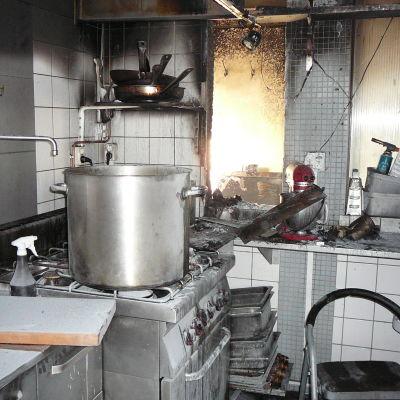 Brand på Köttkontrollen i Karis 21.8.2014