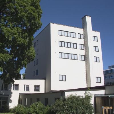 Boktornet vid Åbo Akademis bibliotek.