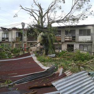 Ett förstört sjukhus i provinsen Iloilo
