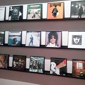 Skivomslag på utställning
