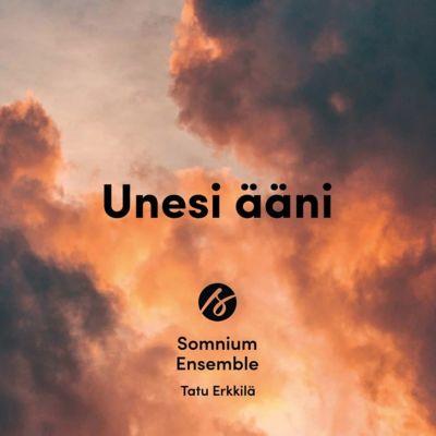 Yleisradion Vuoden levy 2019 -tunnustuksen saaneen Somnium Ensemblen Unesi ääni -levyn kansi