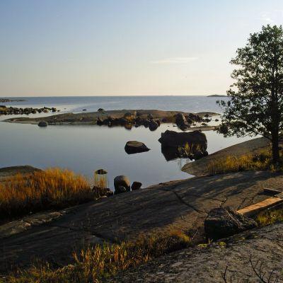 Kalliomaisema Suomenlahdelta.