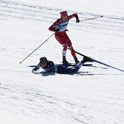 Johanna Matintalo kaatui Oberstdorfin MM-sprinteissä