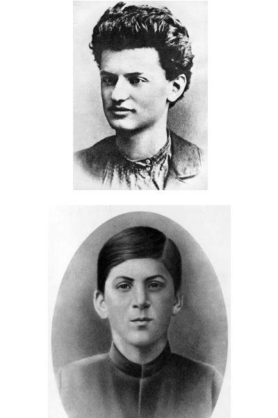 Trotskij och Stalin som barn