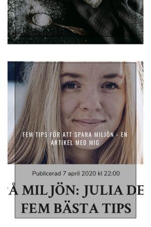 Från Julia Degerths Instagramkonto