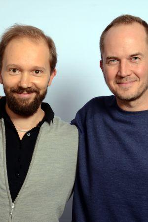 Maija Salminen, Valtteri Pöyhönen ja Tommi Lindgren vierekkäin seisomassa