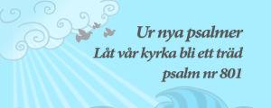 """Psalmkväll i Yle Vega textcitat """"Ur nya psalmer, låt vår kyrka bli ett träd, psalm nummer 801"""""""