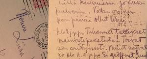 Aarre Merikannon kortti kotiin.