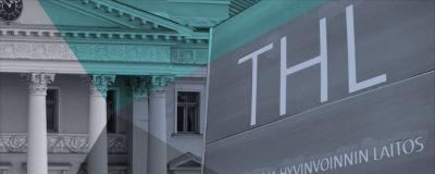 Ett bildmontage av Statsrådsborgen och THL