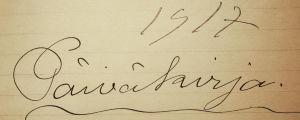 Väinö Pesolan päiväkirja 1917