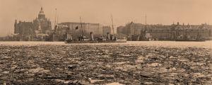 Venäjän laivasto Helsingistä lähdössä 10.4.1918