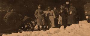Saksalaisia sotilaita matkalla Tammisaareen 6.4.1918.