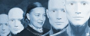 Kuvitusta kuunnelmaan R.U.R. Rossum's Universal Robots