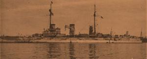 Saksalainen sotalaiva Posen Helsingissä 13.4.1918.
