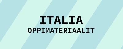 Navigaatiokuva aineen italia oppimateriaaleille.