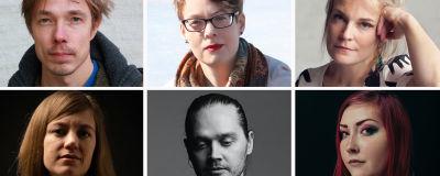 runoilijat Jouni Teittinen, Auli Särkiö, Silja Kejonen, Matti Kangaskoski ja Rosanna Fellman