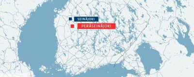 Karta för Seinäjoki och Peräseinäjoki i Österbotten.