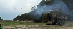 Slovakiassa testattiin Patrian panssariajoneuvoa huhtikuussa 2018.
