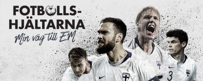 Plansch för serien Fotbollshjältarna: min väg till EM.