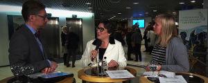 Tuomariston puheenjohtaja Lilli Paasikivi Janne Palkiston  ja Riikka Holopaisen haastattelussa 4.1.2019.