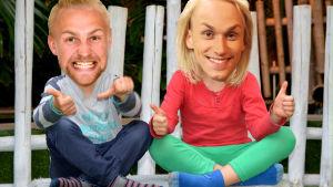 Janne och Christoffer som barn