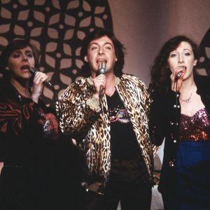 Anna Babitzin, Kirka Babitzin ja Muska Babitzin esiintyvät Eurovision laulukilpailussa 1979.