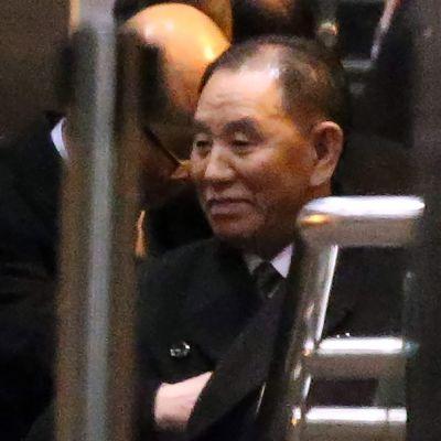 Kim Yong-chol lähti lennolle Pekingistä Washingtoniin 17.1.2019.