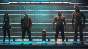 Här ser du galaxens beskyddare i Guardians of the galaxy.