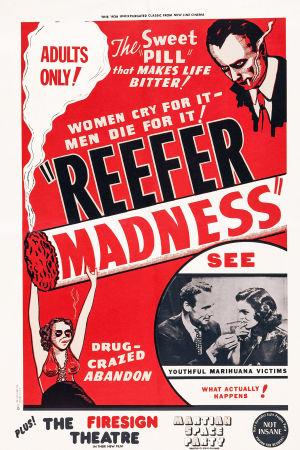 Filmplansch för filmen Reefer madness.