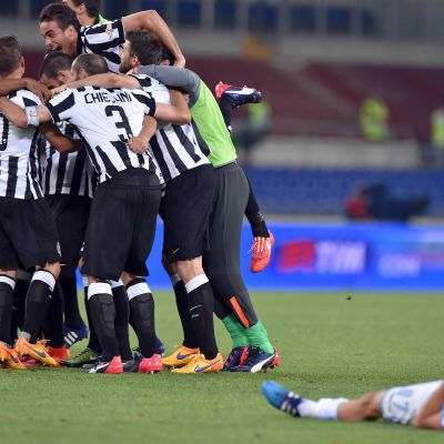 Juventus firar seger mot Lazio.