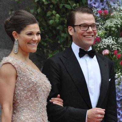 Kruununprinsessa Victoria ja Daniel Westling häissään