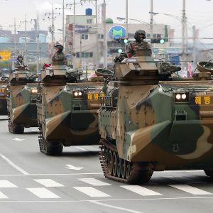 Trump ställde in de årliga, militärövningarna med Sydkorea efter sitt toppmöte med Nordkoreas ledare Kim Jong-Un i juni