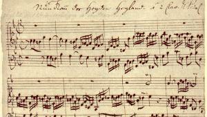 Handskriven notskrift av Johann Sebastian Bach