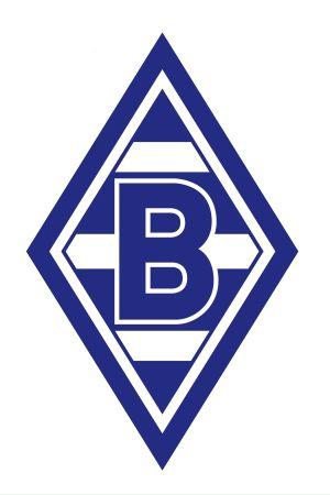 Logo för Borussia Mönchengladbach i blå-vit