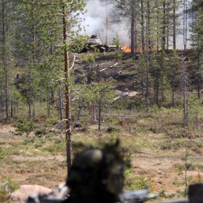 Armén övar i Rovajärvi år 2011.