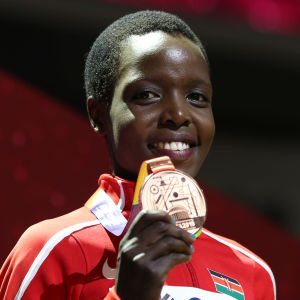 Den mördade Agnes Tirop vann VM-brons 2019.