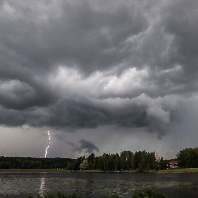 Blixtnedslag i Jyväskylä