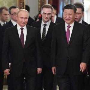 Vladimir Putin och Xi Jinping träffades i St. Petersburg i juni 2019.