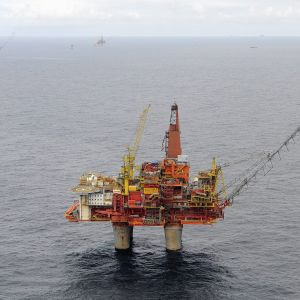 Oljeriggen Statfjord B i Nordsjön