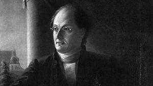 porträtt av Johan Ludvig Runeberg, målad av Johan Knutson år 1848