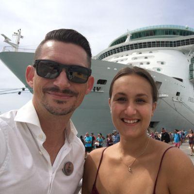 Topi Ylönen, Timila Shrestha ja Freedom of the Seas -risteilijä.