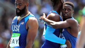 Christian Coleman längst till höger har nytt årsbästa på 100 meter.