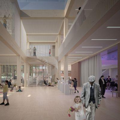 Havainnekuva Porin ruotsalaisesta kulttuurikampuksesta