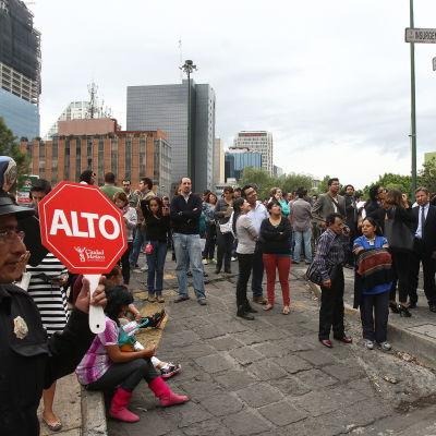 Ett jordskalv inträffade nära Mexico City