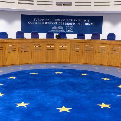 Europadomstolens rättssal.