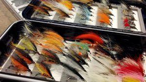 Flugor för flugfiske.