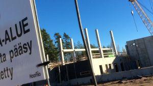 Karis nya brandstation växer fram vid Bangatan i Tallmo