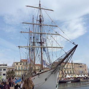 Sète'in meripäivät 2016 Etelä-Ranskassa. Ranskalainen vanha turskanpyyntialus Le Marité vierailulla.