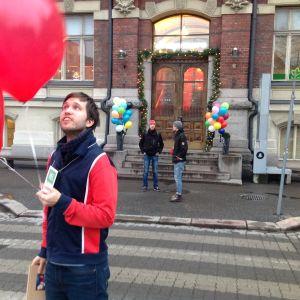 Johannes Romppanen ordnar Creative Mornings/Helsinki