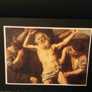 Pyhä Bartholomeus kärsii marttyyrikuoleman, hänet nyljetään.